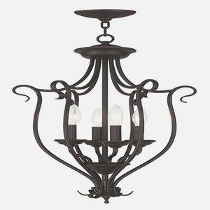 - Livex Lighting 6137-07 Coronado 4 Light Foyer Chandelier, Bronze