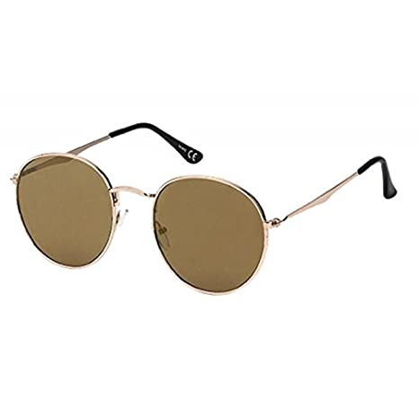 Sonnenbrille Pilotenbrille Panto Round 400 UV verspiegelt Steg lang geknickt silber NvSuv3rh