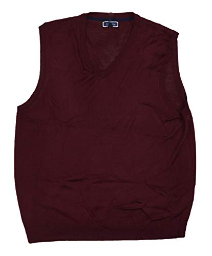 Merino Wool Sweater Vest - Club Room Performance Merino Wool Blend Pullover Sweater Vest (Red Plum, XX-Large)