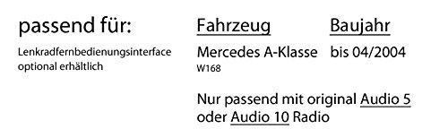 Autoradio Radio Blaupunkt Alicante 170 Einbauzubeh/ör Einbauset CD//MP3//USB Mercedes A-Klasse W168