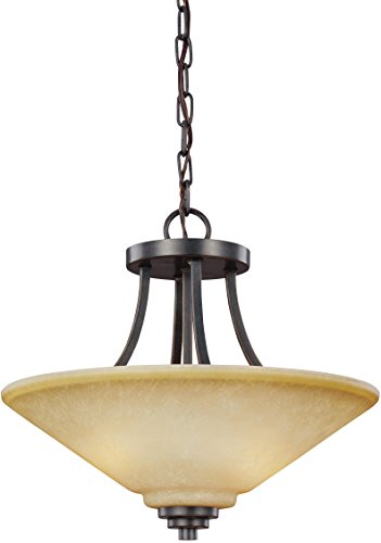 Sea Gull Lighting 7713002EN3-845 Parkfield Pendant, 2-Light LED 19 Total Watts, Flemish Bronze -