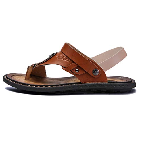 Sandalias Beach Marrón Clip Respirables Zapatillas Shoes para Toe Hombre Outdoor 4ZAFwanqT