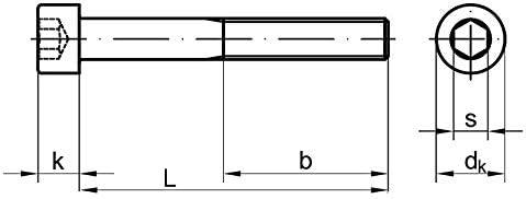 Stahl 12.9 blank 2 Stk Zylinderschraube DIN 912 Feingewinde M 10 x 1,25 x 60