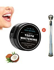 2017 Teeth Whitening Powder Natural Organic Activated Charcoal Tooth Powder Bamboo Safe Natural Teeth Whitener Solution With Bamboo Toothbrush Oral Care Set by Lemoncy