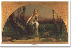 Ophelia 1851-53 Art Poster Print by Arthur Hughes - Fabric Ophelia