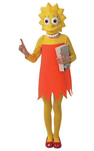 Lisa Simpson - The Simpsons - Childrens Fancy Dress Costume - Medium - 116cm - Age 5-6 -