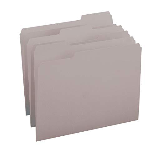 (Smead File Folder, 1/3-Cut Tab, Letter Size, Gray, 100 per Box (12343))