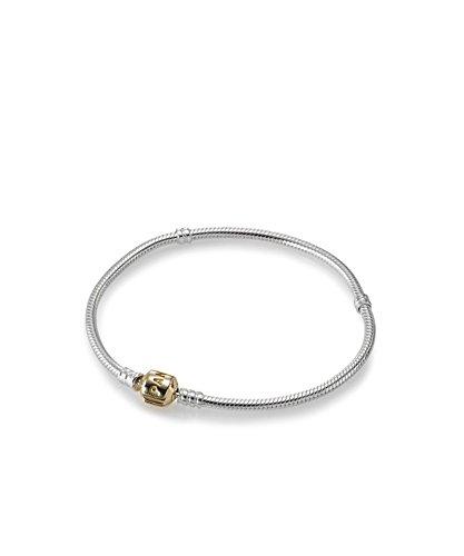 PANDORA - Bracelet à charms argent 925/1000 et or 585/1000 PANDORA 590702HG - 20