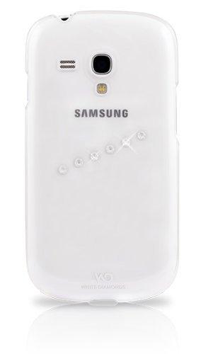 White Diamonds WDGS3MSICL - Carcasa con Swarovski para Samsung Galaxy S3 Mini, transparente