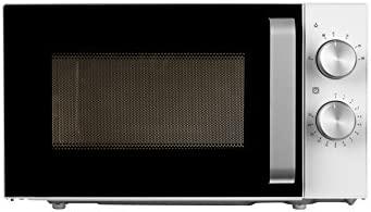 MEDION MD 18041 - Microondas, 700 vatios de potencia, 20 L de capacidad, 6 niveles de potencia, función de descongelación, Blanco