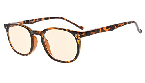 Eyekepper Vintage Computer Reading Glasses Readers-Anti-reflective,Anti-glare,Uv Protection (Amber Tinted Lenses, Tortoise) - Computer Glasses In