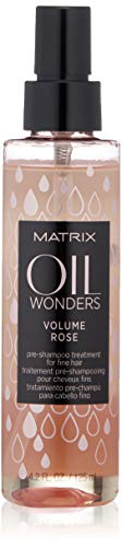 Matrix Oil Wonders Volume Rose Pre-Shampoo Treatment for Fine Hair, 4.2 Fl. Oz.
