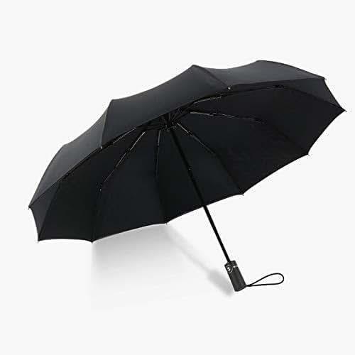 TONWIN Umbrella Two-Color Three-Fold Wind-Proof Sunscreen Umbrellas(Black) (Color : Black)