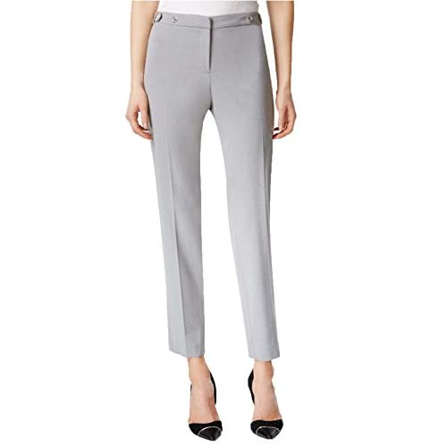 Calvin Klein Women's Gray Side-tab Slim Highline Pants for cheap