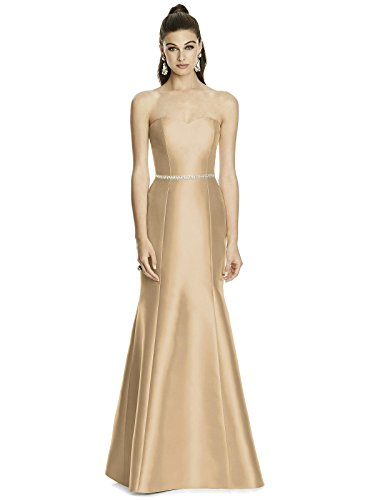 Forever Alfred Sung Style D742 Floor Length Sateen Trumpet Skirt