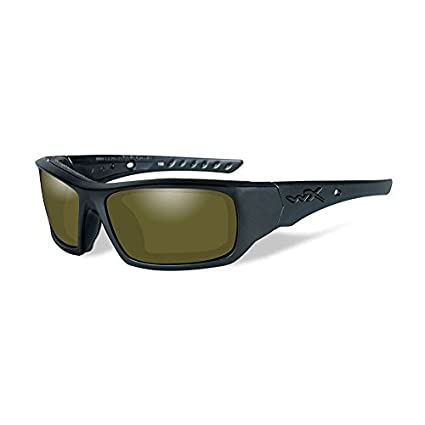 b99938d612a Amazon.com  Wiley-X CCARR08 WX ARROW Polarized Sunglasses Amber Lens Matte Tortoise  Frame by Wiley X  Sports   Outdoors