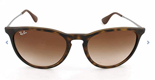 Ray-Ban RB4171 Erika Round Sunglasses, Dark Rubber Tortoise/Brown Gradient, 54 ()