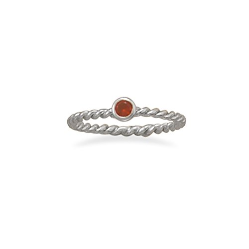 Stackable July Ring Rhodium on