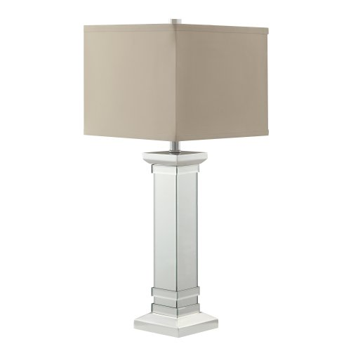 Kingsbury Home Candice 3-Way Bulb Accent Table Lamp with Crystal Mirror Base