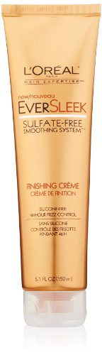 Smoothing System Styling Creme (L'Oreal Paris EverSleek Sulfate-Free Smoothing System Finishing Crème, 5.1 Fluid Ounce)