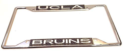 UCLA Bruins Carbon Cut 3-D Silver Chrome Metal License Plate Frame