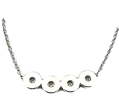 - Pizazz Studios Snap Charm Necklace for 4 Snaps