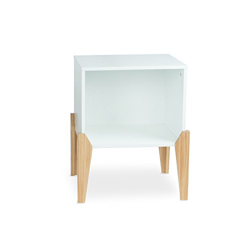 Cheap urb SPACE 82008001 Open Wood Nightstand End Table, Cube, White