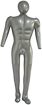 Chuancheng Man Full Body Inflatable Mannequin Male Dummy Torso Tailor Clothes Model Display PVC 168cm Mens Full Body Model