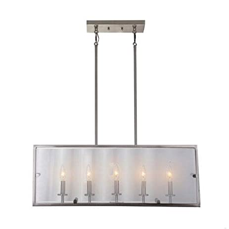 Artcraft lighting harbor point 5 light island light satin nickel