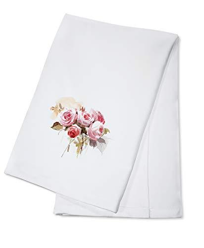 Watercolor Rose Bouquet Illustration A-91499 (100% Cotton Kitchen Towel)