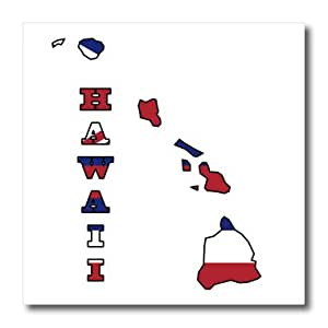 ht_58731_1 777images Flags and Maps - States - Hawaii state flag in the outline map and letters for Hawaii - Iron on Heat Transfers - 8x8 Iron on Heat Transfer for White Material