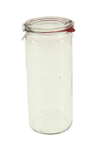 Weck 908 Cylindrical Jar, 1 Liter - Set of 6