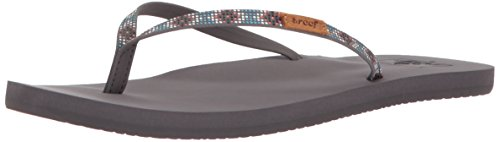 Reef Women's Slim Ginger Beads Sandal, Turquoise, 8 M - Womens Reef Ginger