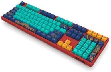 Red Akko Beijing 3108 V2 108 PBT Keycap Type-C Wired Mechanical Gaming Keyboard World Tour