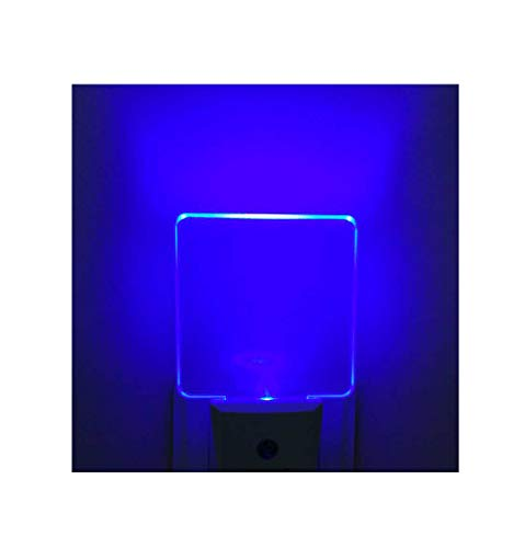 Reminda Pack of 2 Plug in Led Night Light for Bathroom, Kitchen, Hallway, 0.5W, Dusk to Dawn Auto on Off, Blue