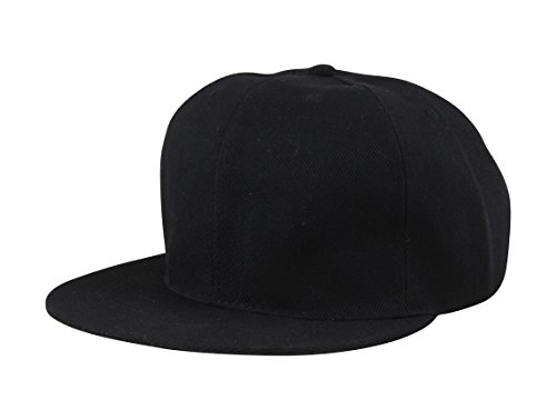 FabSeasons Casual Black Snapback, Hiphop, Flat Cap