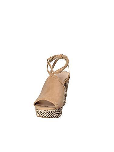 Sandalo Zeppa Beige Sue03 Donna Fldli2 Guess 0BP4En