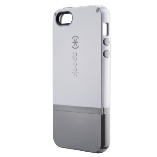 Speck Products CandyShell Flip Dockable Case for iPhone 5 & 5S - White/Graphite Grey/Pebble Grey ()