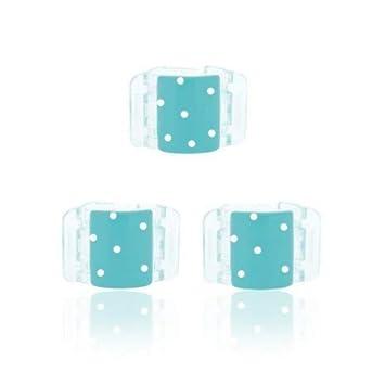 Pinza para el pelo Muelles Ocultos - Mini Kids Azul y Blanco - Linziclip