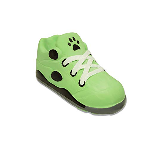 - Pohshido Dog Chew Toy, Squeaky Dog Toy Shoe Teeth Cleaning Latex Rubber, Fun Pet Toy for Puppies, Safe Durable Latex Rubber Interactive Toy for Dogs, Bite Resistant for Small Medium Large Dogs