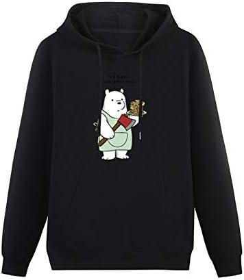 CHANGMAO Mens We Bare Bears Cotton Casual Menanime Cartoon 3D Printed Hoodies Long Sleeve Pullover Loose Hoody Sweatershirt Size
