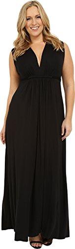 (Rachel Pally Women's Plus Size Long Sleeveless Caftan Black Dress)