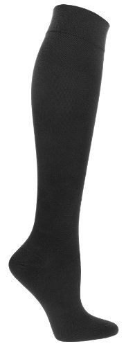 Compression Socks | Womens Black Stockings (1 pair) | 15-20 mmHg Graduated | Sock Size 9-11 | Improve Foot Health Comfort Circulation for Nurses, Diabetes, Varicose Veins, Travel, Pregnancy