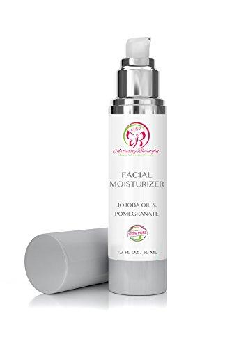 Artlessly Beautiful Organic Facial Moisturizer Cream with Jojoba Oil, Aloe Vera, Pomegranate & Cocoa Butter. 100% Pure All Natural Moisturizing Face Moisturizer, 1.7 oz For Sale