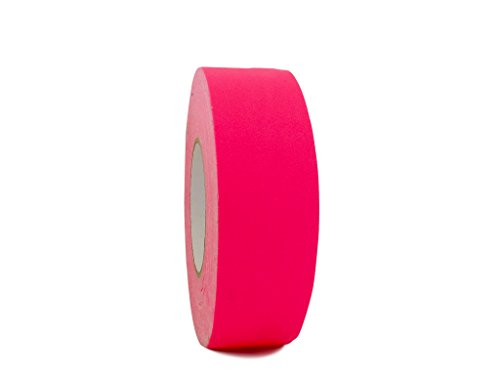 WOD FCT-665 Premium Grade Fluorescent Pink Gaffer Tape, Secures Cables, No Sticky Residue, Non Reflective, Easy to Tear (Available in Multiple Sizes & Colors): 1 in. X 50 yds. (1-Roll) ()