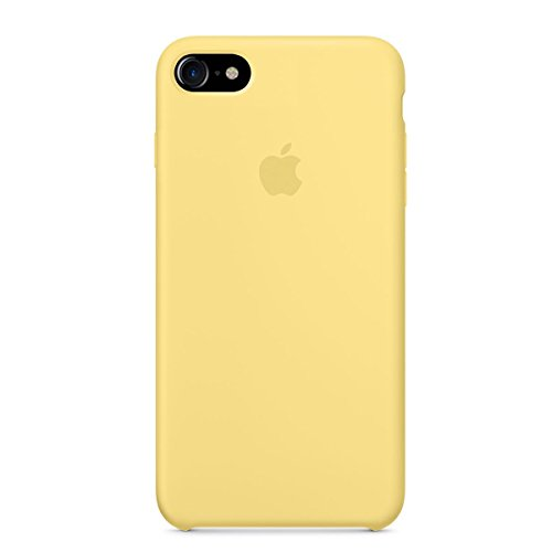 Optimal shield Soft Apple Silicone Case Cover for Apple iPhone 7 (4.7inch) Boxed- Retail Packaging (Yellow)