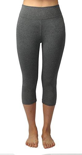 Pantalone Basic capri Leggings Black grey Donna Basic 4HOW Design with 2pack wq56Ezz