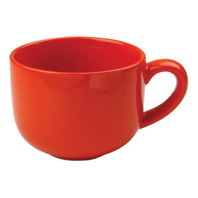OmniWare Teaz Cafe Orange Stoneware 24 Ounce Jumbo Coffee Mug, Set ...