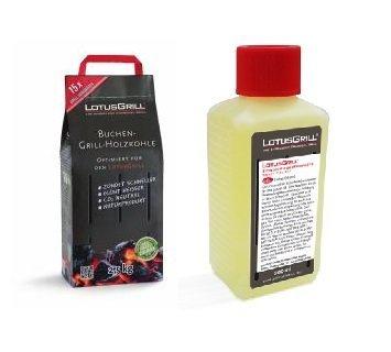 Lotusgrill Buchenholzkohle 2 5 Kg Sack Inkl Lotusgrill Brennpaste