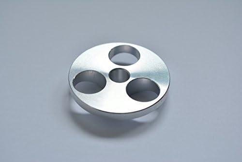 Adaptador de eje de aluminio para tocadiscos de 7